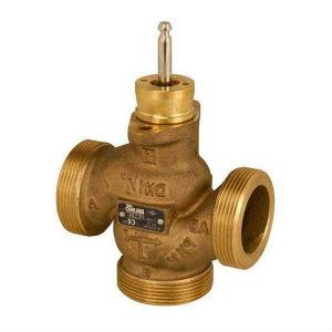 Стандартный муфтовы резьбовой клапан трехходового типа