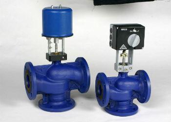 Трехходовые клапана с автоматическим приводом и фланцами