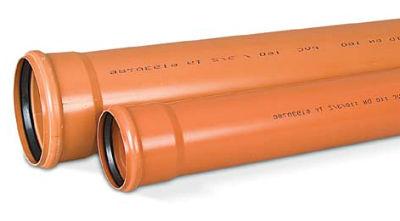 Наружная канализационная труба с раструбным соединением