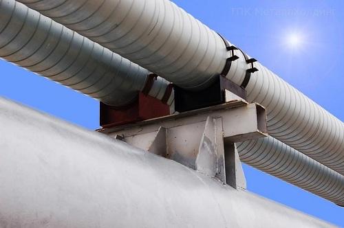 Опоры трубопроводов: скользящие, неподвижные