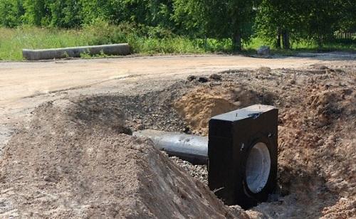 Устройство водопропускной трубы под дорогой