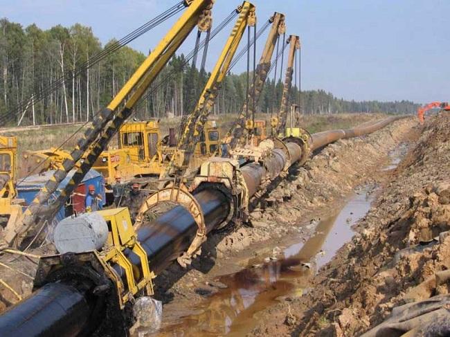 Прокладка подземного газопровода