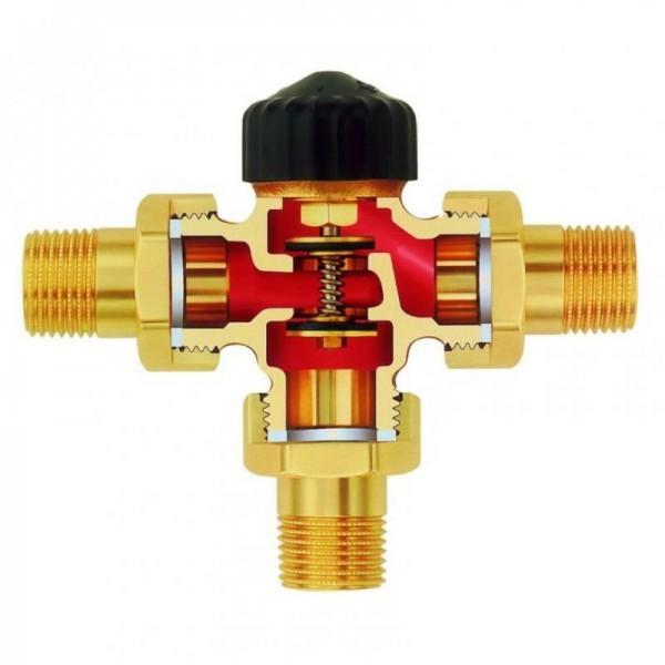 Устройство трехходового клапана (вид изнутри)