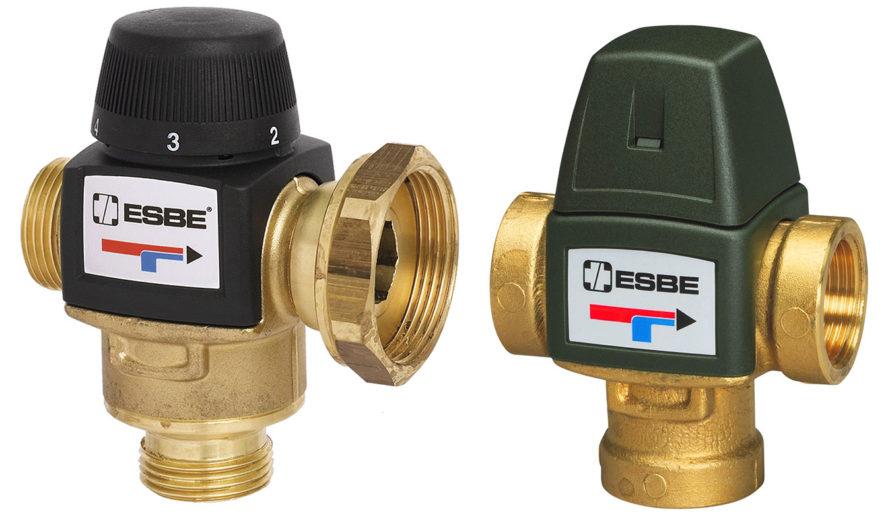 Обзор моделей трехходовых смесительных клапанов Esbe