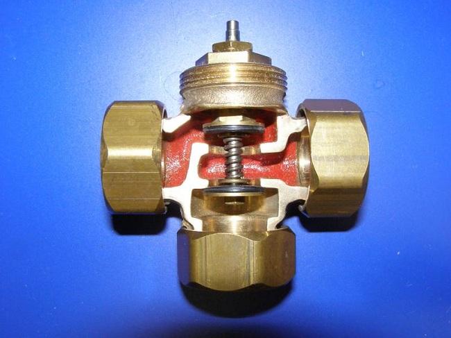 Устройство трехходового клапана